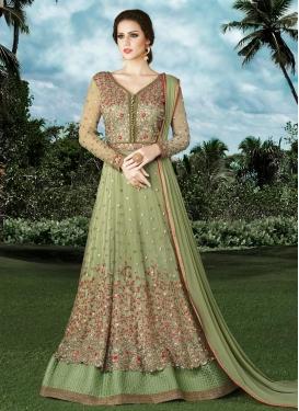 Refreshing Net Layered Designer Salwar Kameez