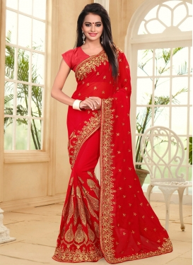 Renowned Booti Work Contemporary Saree