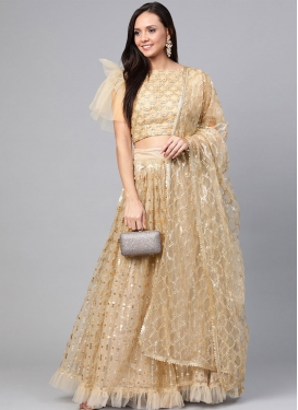 Resham Work A - Line Lehenga For Festival