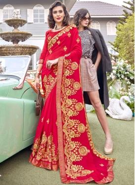 Resham Work Ceremonial Classic Saree