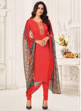 Resham Work Churidar Salwar Suit