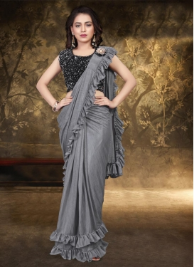 Resham Work Designer Contemporary Style Saree