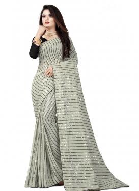 Resham Work Designer Traditional Saree