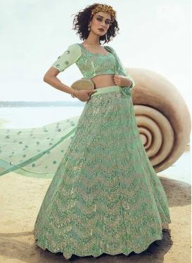 Resham Work Net Trendy Lehenga Choli