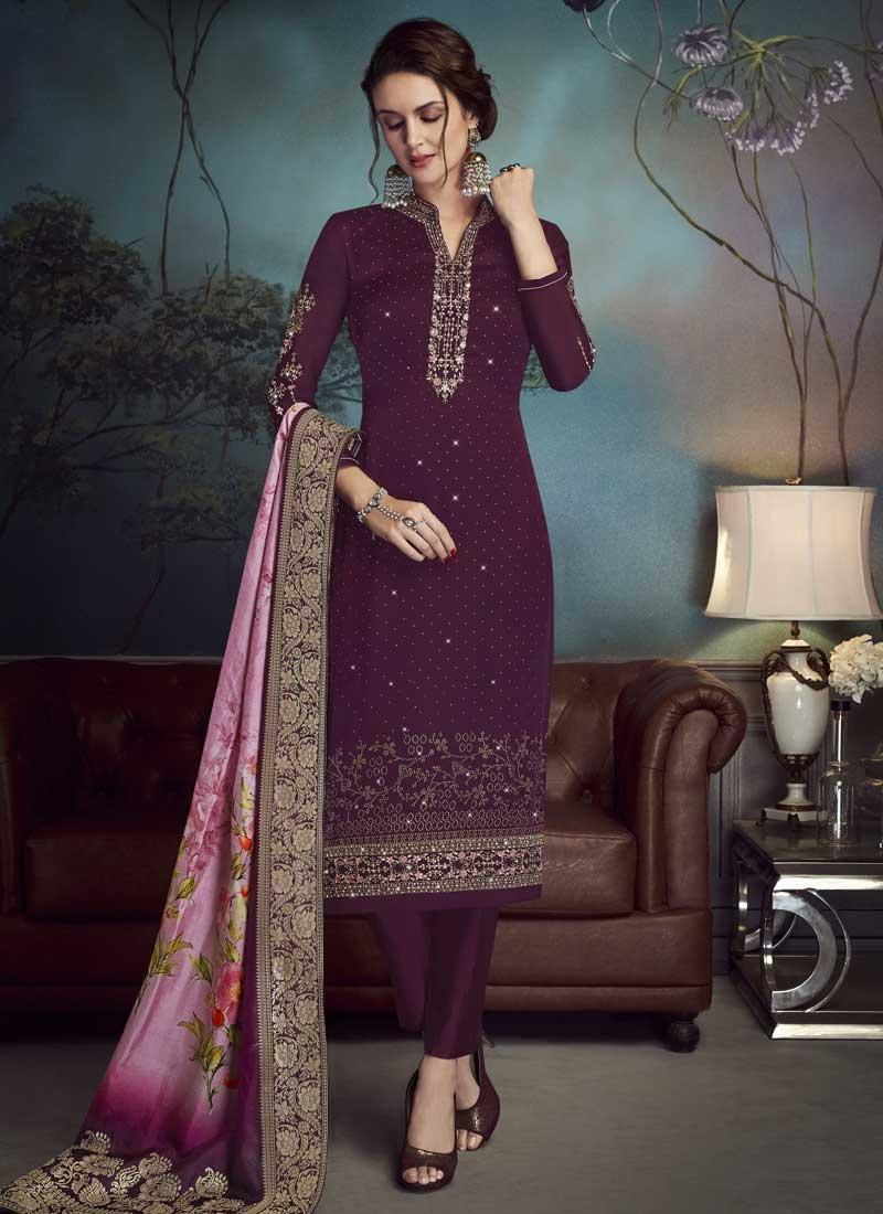Resham Work Pant Style Pakistani Salwar Kameez