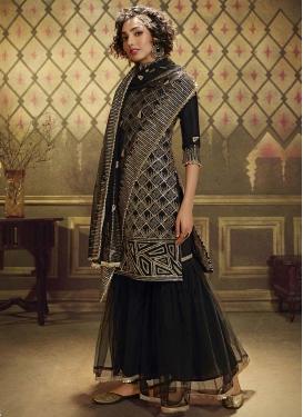 Resham Work Sharara Salwar Kameez