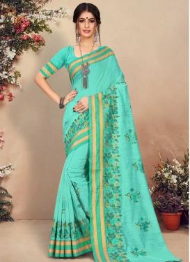 Resham Work Trendy Classic Saree