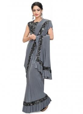 Resham Work Trendy Classic Saree For Ceremonial