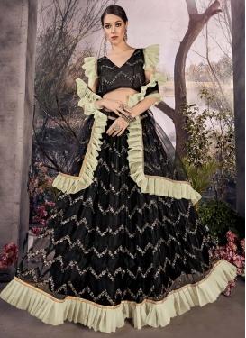 Resham Work Trendy Designer Lehenga Choli