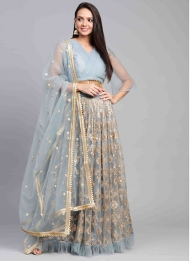 Resham Work Trendy Lehenga Choli