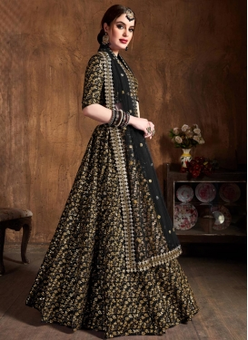Resham Work Trendy Lehenga Choli For Ceremonial