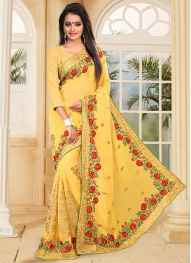 Resplendent Faux Georgette Traditional Designer Saree