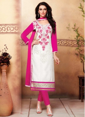 Rose Pink and White Cotton Pant Style Classic Suit