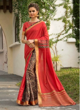 Ruritanian Art Silk Festival Traditional Saree