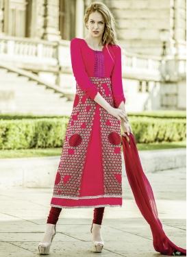 Ruritanian Rose Pink Color Resham Work Party Wear Suit