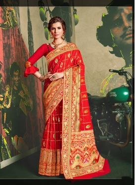 Ruritanian Weaving Wedding Traditional Designer Saree