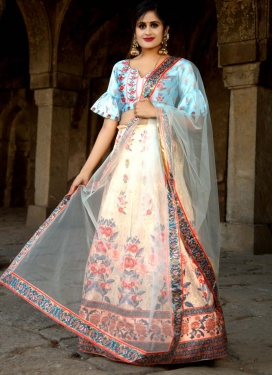 Satin A Line Lehenga Choli For Festival