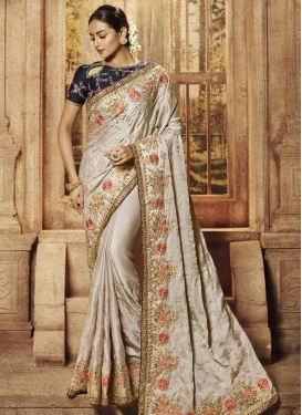 Satin Designer Contemporary Style Saree