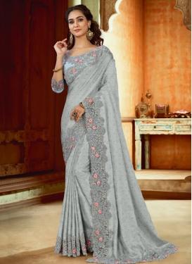 Satin Designer Contemporary Style Saree