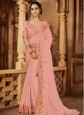 Satin Designer Traditional Saree For Ceremonial