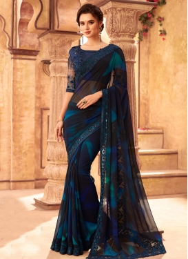 Satin Georgette Contemporary Style Saree