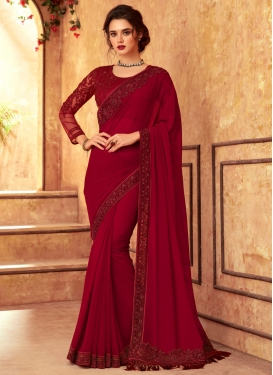 Satin Georgette Designer Contemporary Saree