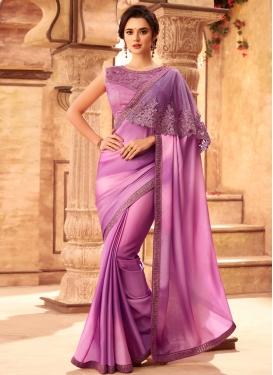 Satin Georgette Designer Contemporary Style Saree