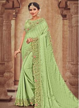Satin Georgette Designer Traditional Saree