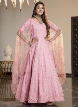 Satin Georgette Floor Length Anarkali Salwar Suit