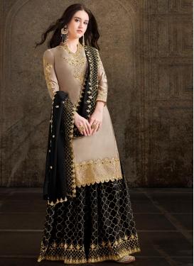 Satin Georgette Palazzo Designer Salwar Suit