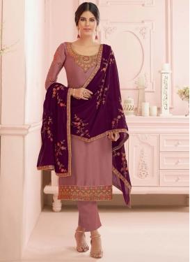 Satin Georgette Pant Style Pakistani Suit