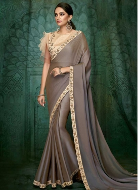 Satin Georgette Traditional Designer Saree