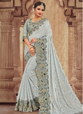 Satin Georgette Traditional Designer Saree