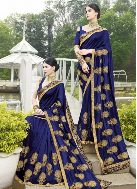 Satin Georgette Traditional Saree For Ceremonial