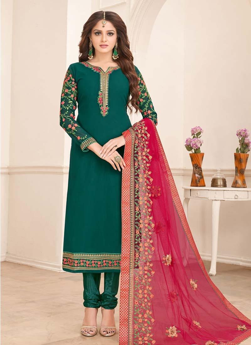 Satin Georgette Trendy Pakistani Salwar Kameez For Ceremonial