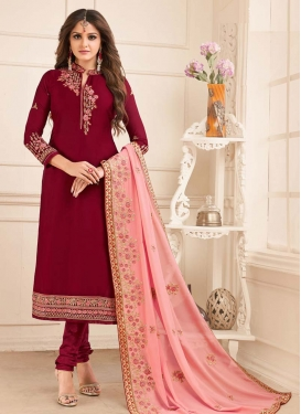 Satin Georgette Trendy Pakistani Salwar Suit