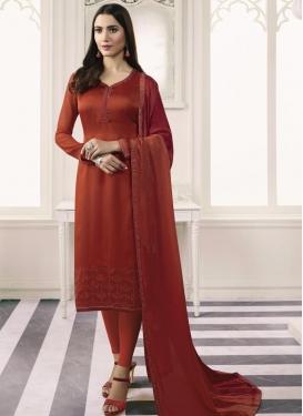 Satin Georgette Trendy Pakistani Salwar Suit