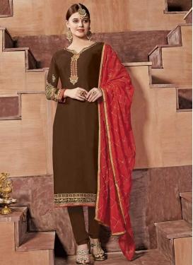 Satin Georgette Trendy Salwar Suit