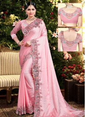 Satin Georgette Trendy Saree