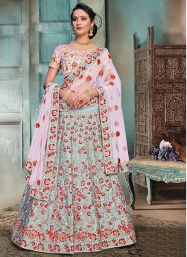 Satin Lehenga Choli For Ceremonial