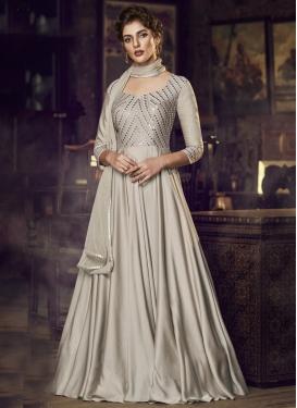 Satin Readymade Designer Gown For Festival