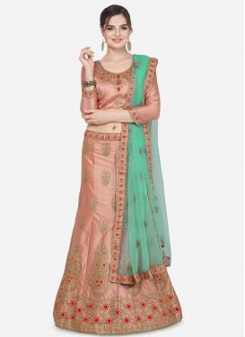 Satin Silk A Line Lehenga Choli