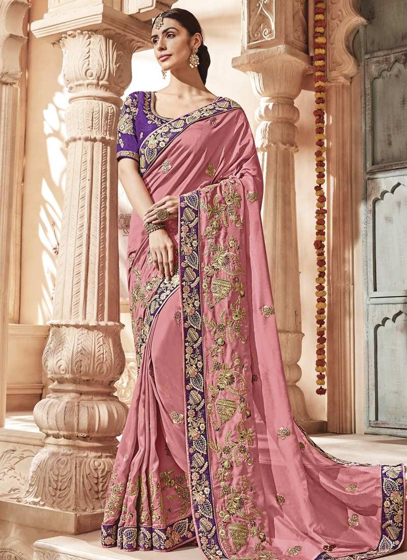 Satin Silk Contemporary Saree