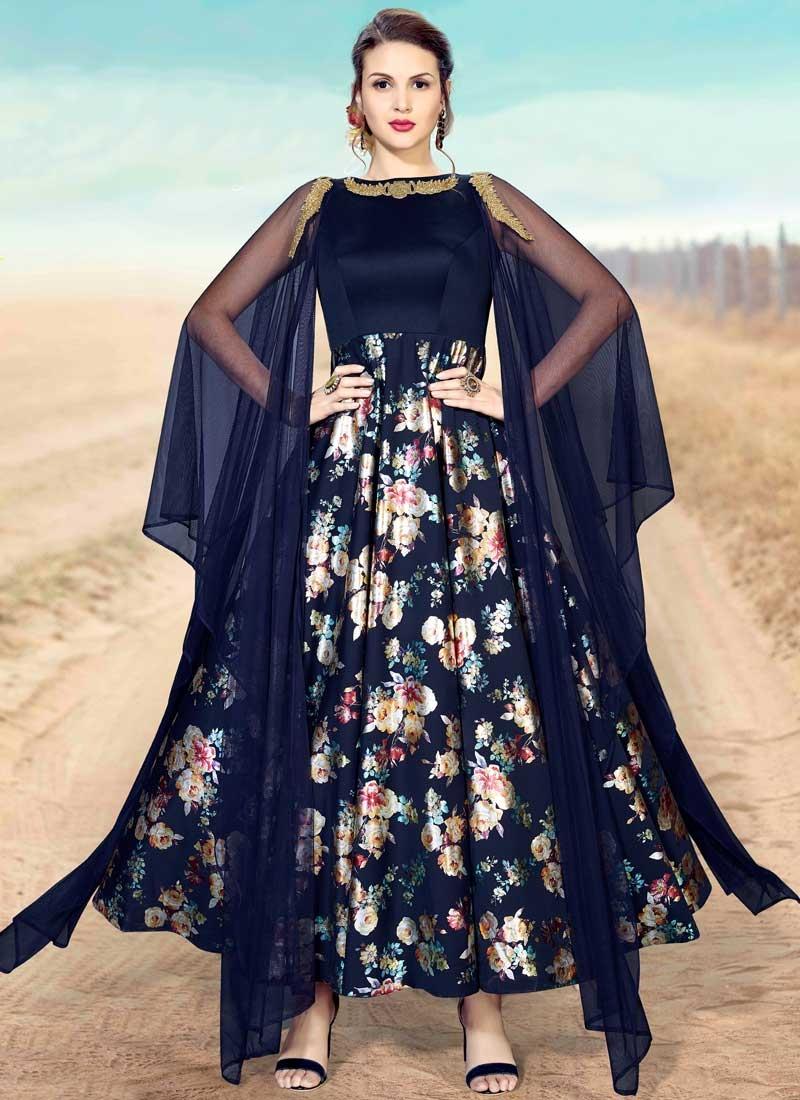 Satin Silk Cutdana Work Readymade Designer Gown