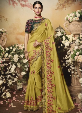 Satin Silk Designer Contemporary Saree