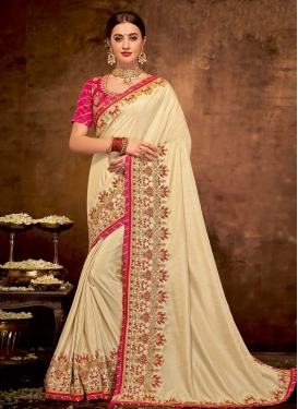 Satin Silk Designer Contemporary Saree For Festival