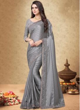Satin Silk Designer Contemporary Style Saree