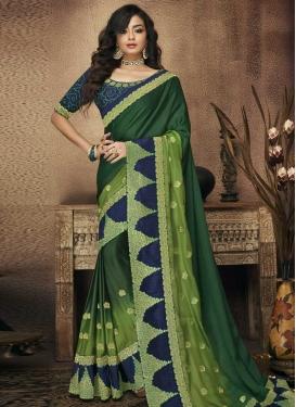 Satin Silk Designer Contemporary Style Saree For Bridal