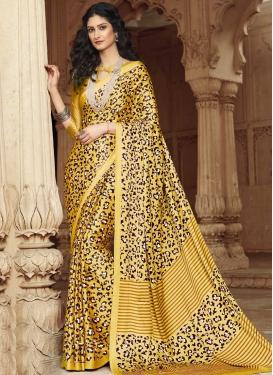 Satin Silk Designer Contemporary Style Saree For Casual