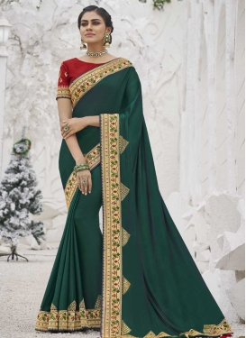 Satin Silk Designer Contemporary Style Saree For Party
